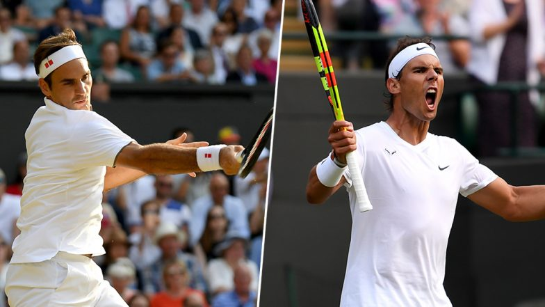 Roger Federer vs Rafael Nadal, Wimbledon 2019 Live Streaming & Match Time in IST: Get Telecast & Free Online Stream Details of Men's Singles Semi-Final Tennis Match in India