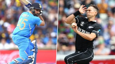 IND vs NZ, ICC CWC 2019 Semi-Final 1 Match: Rohit Sharma vs Trent Boult and Other Mini Battles to Watch Out for at Old Trafford Cricket Ground in Manchester