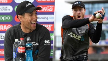 Ross Taylor Takes Jibe at Martin Guptill Over Throw That Got MS Dhoni Run Out During India vs New Zealand CWC 2019 Semi-Final Match
