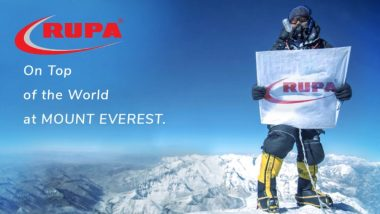 Rupa Company Claims to Have Scaled Mt Everest and Hoisted its Flag on the Summit on Its 50th Anniversary (Watch Video)