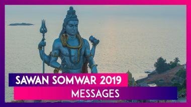 Sawan Somvar 2019 Messages, WhatsApp Stickers, GIF Images to Celebrate the Holy Month of Shravan