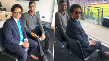 Sundar Hai? Fans Come Up With Hilarious Reactions to Sachin Tendulkar's Cheeky Question on Picture With Google CEO Sundar Pichai