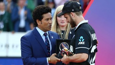 Sachin Tendulkar Said This to Kane Williamson While Handing Him Player of the Tournament Trophy Post CWC 2019 Final