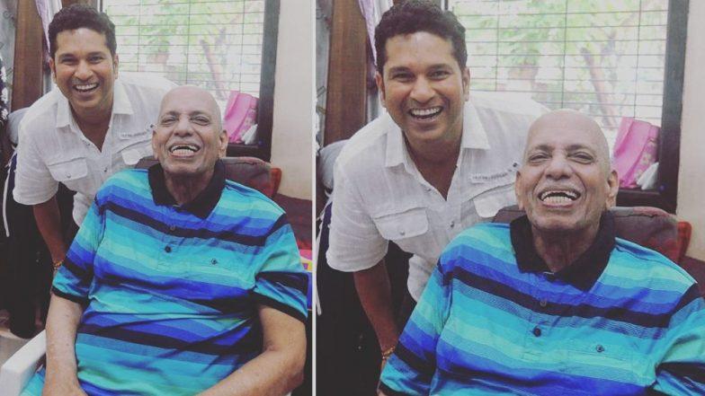 Guru Purnima 2019: Sachin Tendulkar Tweets Old Picture With Coach and Guru Ramakant Achrekar