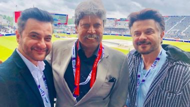 Anil Kapoor and Sanjay Kapoor Turn Into Fanboys as They Pose With Kapil Dev at India Vs New Zealand Semi-Final - View Pics
