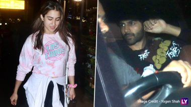 PICS: Sara Ali Khan's Rumoured BF Kartik Aaryan Receives Her and Amrita Singh at Mumbai Airport and We Wonder What Happens Next!