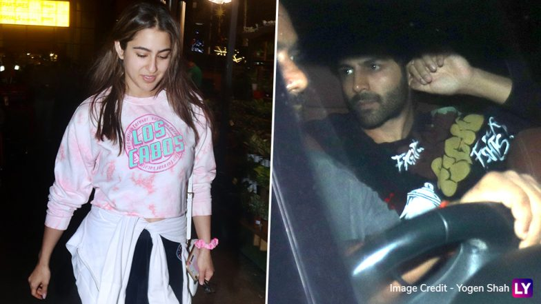 PICS: Sara Ali Khan's Rumoured BF Kartik Aaryan Receives Her and Amrita Singh at Mumbai Airport and We Wonder What Happens Next!