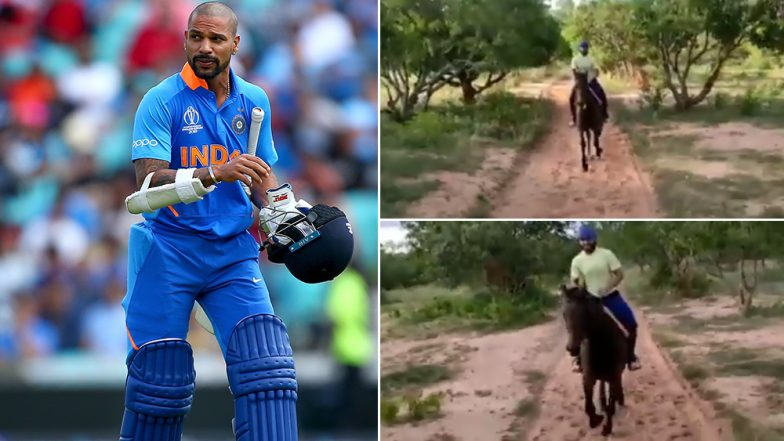 Riding Through the Winds! Shikhar Dhawan Enjoys Horse Riding After Recovering From Thumb Injury (Watch Video)