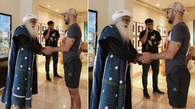 Shikhar Dhawan Meets Sadhguru Jaggi Vasudev, Thanks Him For Efforts on Kaveri River