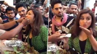 Parineeti Chopra and Sidharth Malhotra Try the Famous 'Fire Paan' and Their Expressions Will Make Your Day (Watch Video)