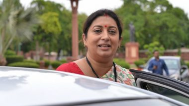 Smriti Irani Accuses Congress of Politicising COVID-19 Crisis, Says 'It Has Been Stifling Voices of Millions for 7 Decades'