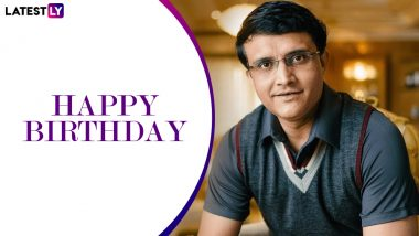Sourav Ganguly Birthday Special! Being Righty to Nickname 'Maharaja', Five Interesting Facts About Dada You May Have Not Known