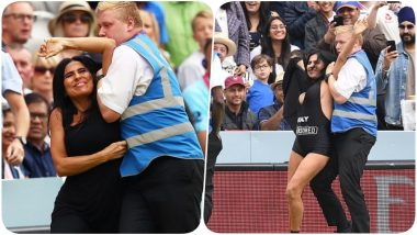 Streaker Elena Vulitsky Attempts to Steal the Show During NZ vs ENG, CWC 2019 Finals to Promote Son's XXX Website 'Vitaly Uncensored'