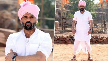 Pehlwaan: Suniel Shetty's Fierce Look as Sarkar in His Kannada Debut Is Impressive!