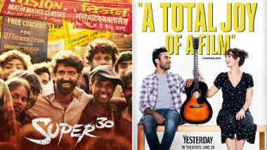 Movies This Week: Hrithik Roshan's Super 30, Danny Boyle's Yesterday