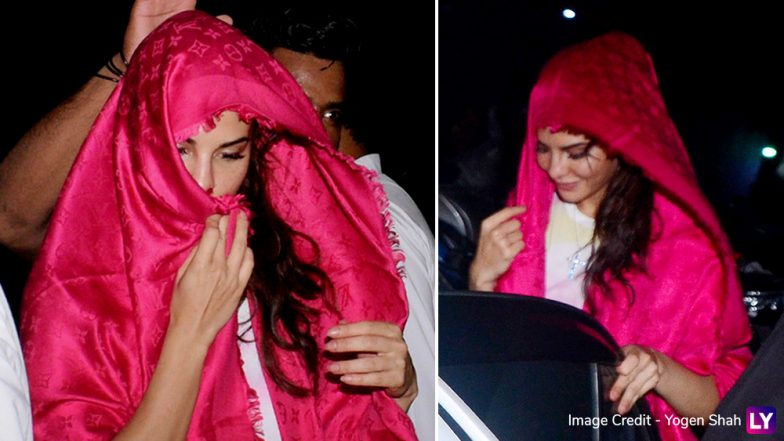 Is Jacqueline Fernandez Hiding Her New Look for a Film? These Paparazzi Pictures of Her Covering Her Face Suggest So!