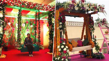 Hariyali Teej 2019 Decor Ideas Floral Swings, Theme Parties