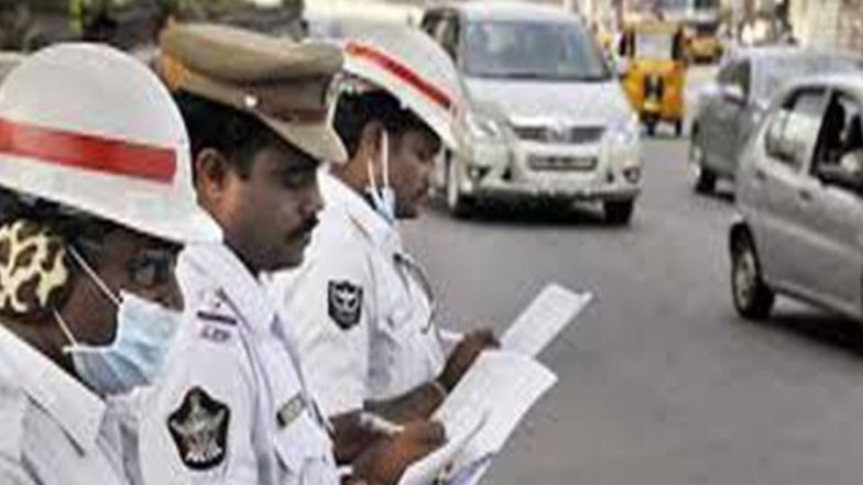 Motor Vehicle Act: About 100 Policemen Fined for Breaking Traffic Rules in Meerut