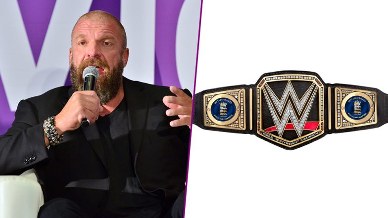 Triple H Presents England Customised WWE Championship Belt