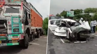 Unnao Rape Survivor Accident: Truck Involved Had Grease-Free Number Plate, Shows CCTV Footage From Toll Plaza