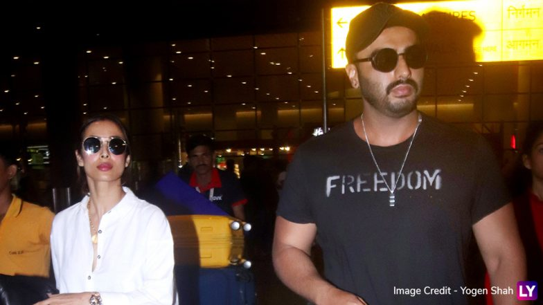 Malaika Arora and Arjun Kapoor Spotted at Mumbai Airport! Lovebirds Are Back from New York – View Pics