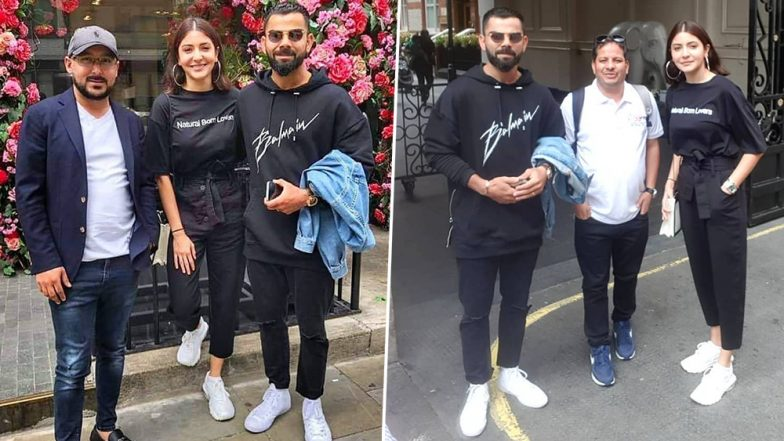 Anushka Sharma and Virat Kohli Twin in Black for Their London Outing, Happily Pose With Fans in Latest Pictures
