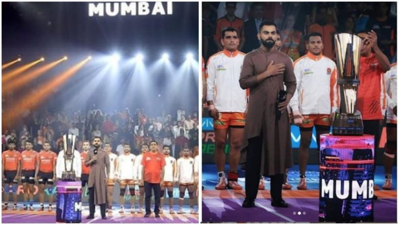 Virat Kohli in PKL 2019: Honoured, Says Indian Cricket Team Captain after Being Invited to Sing National Anthem on Opening Day of Mumbai Leg in Pro Kabaddi League 7 (See Pics)