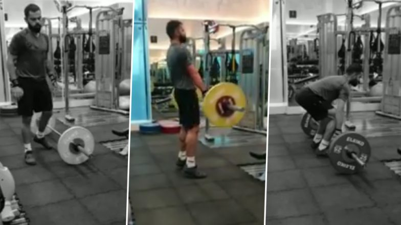 Virat Kohli Shares a Video of Him Doing Powerlifting Exercises With the Caption 'Hard Work Has No Substitute' (Watch Video)