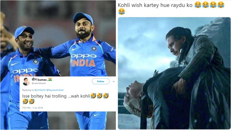 Virat Kohli Trolled for Wishing Ambati Rayudu Good Luck After Retirement, Netizens Accuse Him of 'Trolling' Retired Batsman!