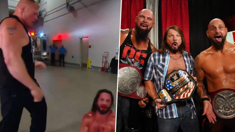 WWE Raw July 29, 2019 Results and Highlights: Brock Lesnar Assaulted Seth Rollins at Backstage; Luke Gallows and Karl Anderson Are the New Tag Team Champions (Check Videos & Pics)