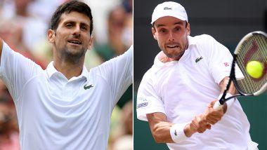 Novak Djokovic vs Roberto Bautista Agut, Wimbledon 2019 Live Streaming & Match Time in IST: Get Telecast & Free Online Stream Details of Men's Singles Semi-Final Tennis Match in India