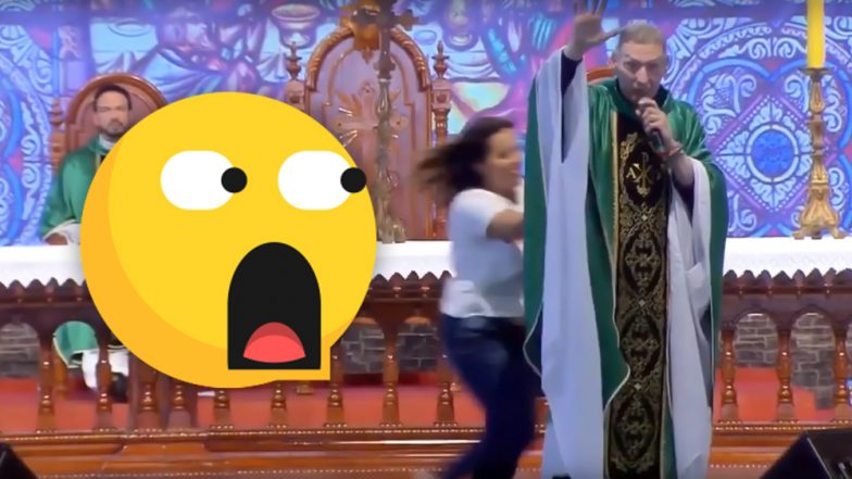 Body-Shaming Priest Who Said 'Fat Women Don't Go to Heaven' Pushed Off Stage By Irate Woman in Brazil, Video Goes Viral