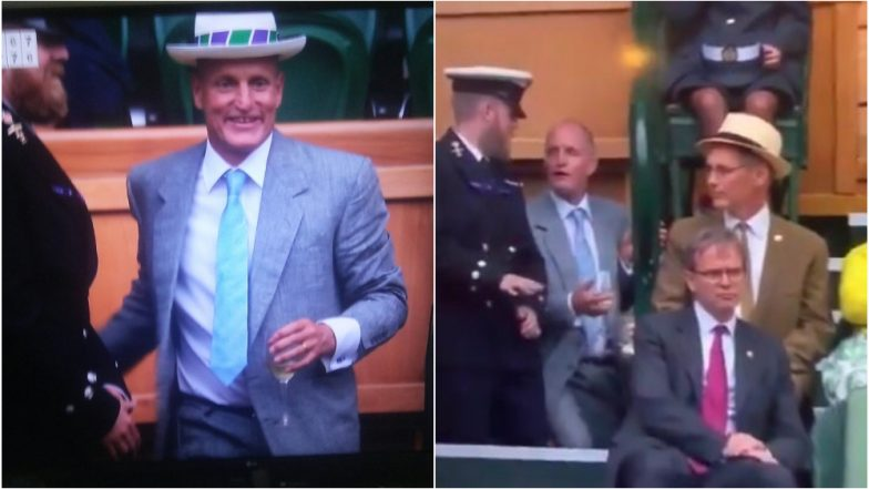 Woody Harrelson Attends Wimbledon 2019 Match, Starts a Meme-Fest With His Hilarious Gestures; Watch Funny Videos