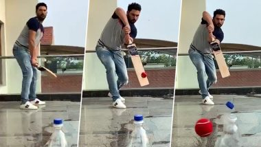 Yuvraj Singh Gives #BottleCapChallenge A New Twist, Nominates Sachin Tendulkar & Other Legends to Take the Challenge as 'Left-Hander', Watch Video
