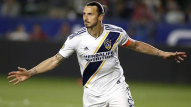 Superman at 37! Zlatan Ibrahimovic Scores Stunning Hat-Trick During LA Galaxy vs Los Angeles FC Game in Major League Soccer (MLS); Watch Video