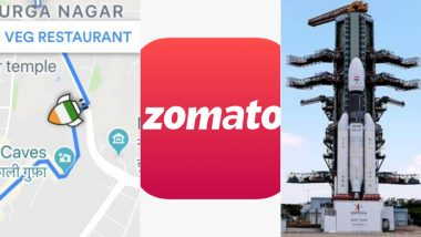 Zomato Celebrates Chandrayaan-2 Launch, Replaces Their Delivery Bike Icon With a 'Rocket'!