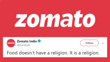 Zomato Shuts Down Bigoted Customer Who Cancelled Food Delivery From Non-Hindu, Says 'Food Doesn't Have Religion', Wins Hearts