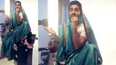 Ayushmann Khurrana Gives his Own Twist to #SareeTwitter and We Thinks He's the Clear Winner So Far