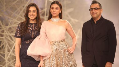 Aditi Rao Hydari Turns Showstopper for Pankaj and Nidhi's Fashion Show at ICW 2019