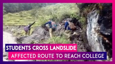 Uttarakhand: Students Cross Landslide-Affected Route to Reach Their College in Munsyari