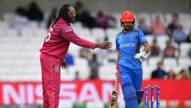 Afghanistan vs West Indies Stat Highlights, ICC World Cup 2019 Match: Shai Hope's 77 & Carlos Brathwaite's Four Wicket Haul Helps Caribbean Team Seal 23 Run Victory