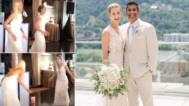 American Tennis Player Alison Riske Grooves to Bollywood Song 'Nachde Ne Saare' at Her Wedding With Stephen Amritraj (Watch Video)
