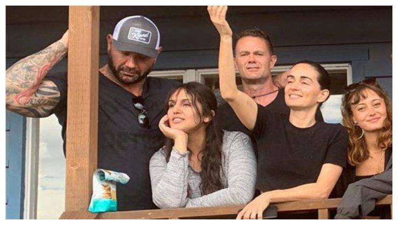 Huma Qureshi Poses with Dave Bautista but He Has His Eyes Set on Food on the Sets of Army of the Dead