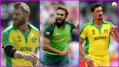 AUS vs SA, ICC Cricket World Cup 2019, Key Players: David Warner, Imran Tahir, Mitchell Starc & Other Cricketers to Watch Out for at Old Trafford in Manchester