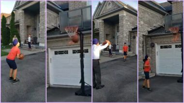 Never Underestimate Your Grandfather! Kid Learns Who Is the Boss in This Epic Basketball Move (Watch Viral Video)