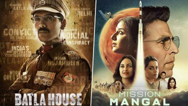 Box Office Report: John Abraham's Batla House Off to a Decent Start, Akshay Kumar's Mission Mangal Witnesses Over 50% Occupancy Across India