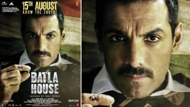 Batla House New Poster: John Abraham Looks All Ready To Fight The Legal System Against Conspiracies!