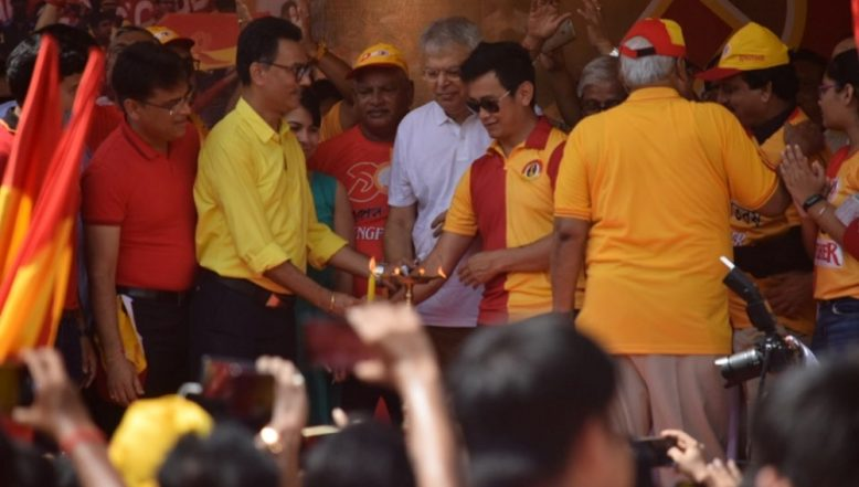 Bhaichung Bhutia Leads Rally to Celebrate East Bengal Football Club's 100 Years Completion (Watch Videos & Pics)