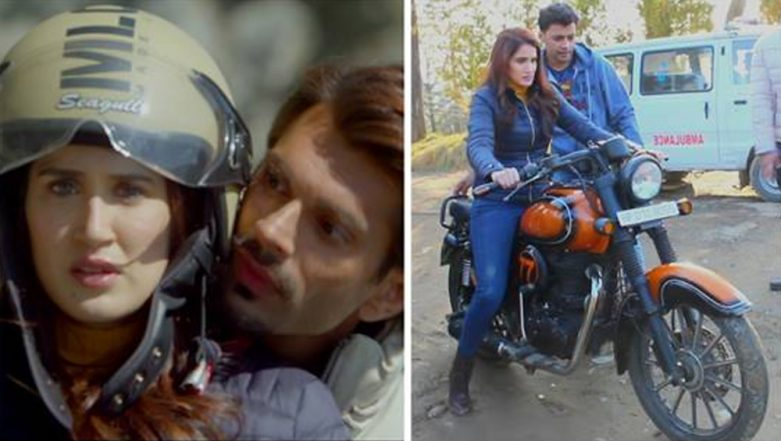 ALTBalaji's BOSS – Baap of Special Services: Sagarika Ghatge Overcomes Her Bike Riding Fears on The Sets!