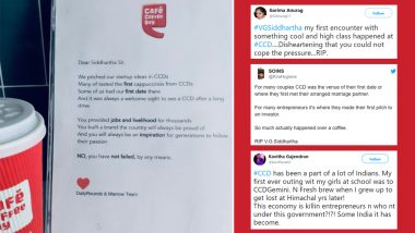 What Is Your Memorable CCD Moment? From First Date to Job Interview Here's How Netizens Paid Tribute to Cafe Coffee Day Founder VG Siddhartha